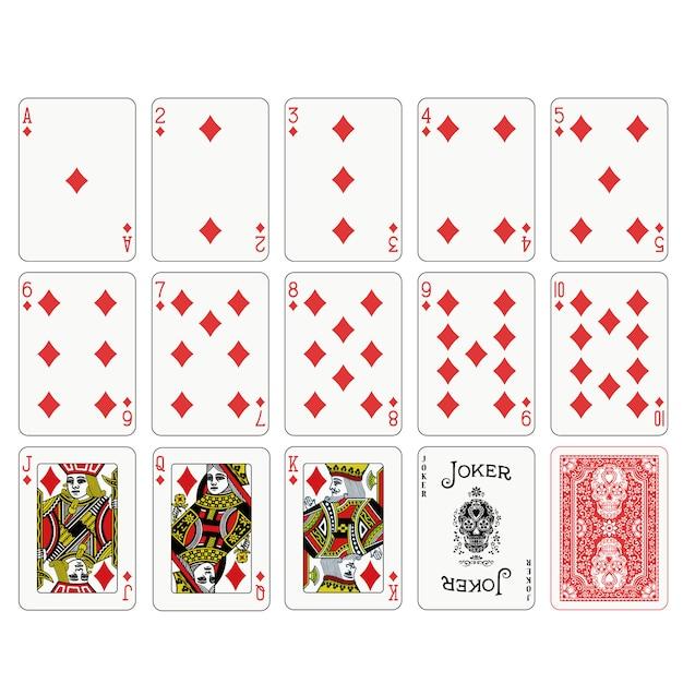 Poker spielkarten design Premium Vektoren