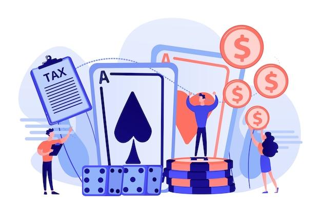 Pokerspieler, glücklicher casino gewinner flacher vektor charakter Kostenlosen Vektoren