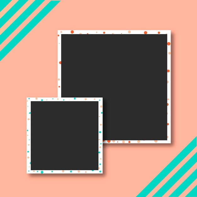Polaroid-bildersammlung Kostenlosen Vektoren
