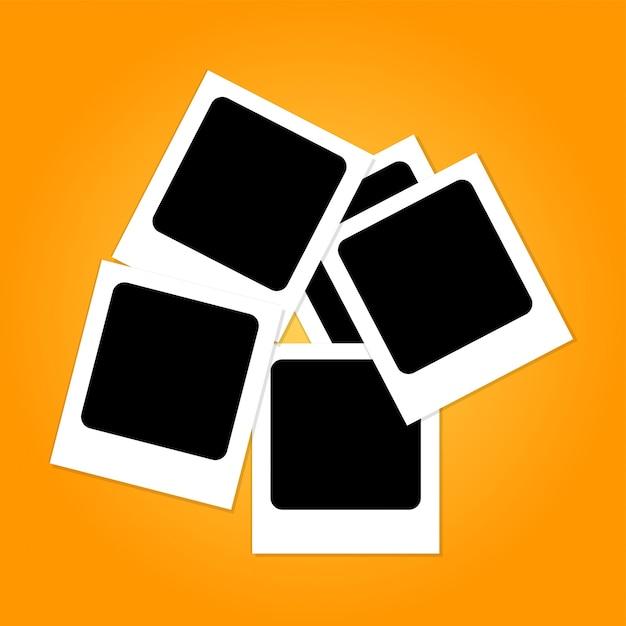 Polaroid-rahmen-collage Premium Vektoren
