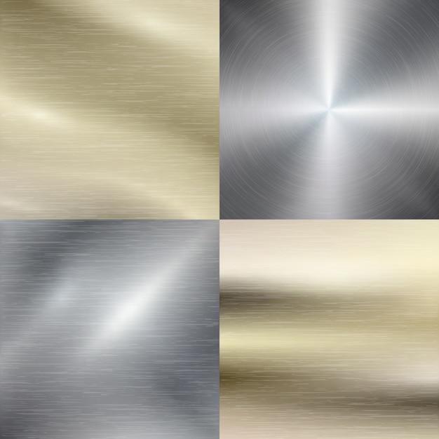 Polierter metall-, stahlbeschaffenheitshintergrund. metallisches material, edelstahl, gebürstetes muster, vektorillustration Kostenlosen Vektoren