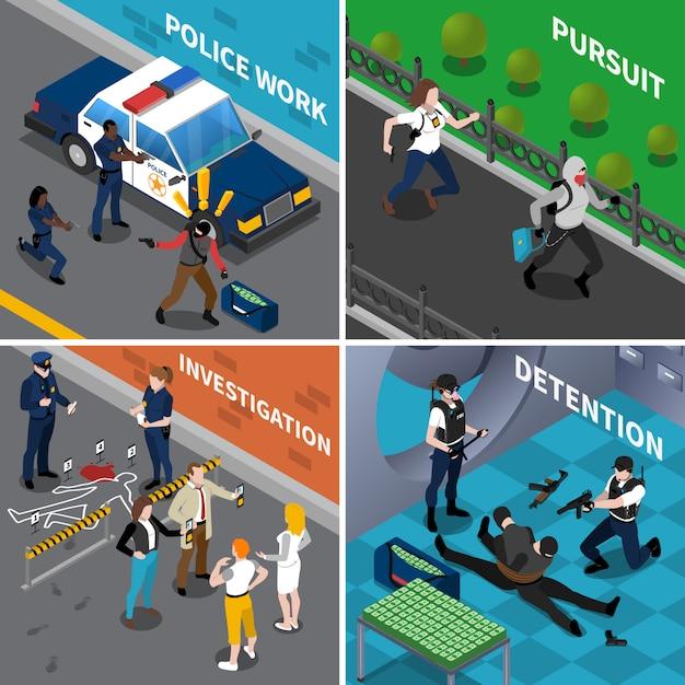 Polizeiarbeitskonzept Kostenlosen Vektoren