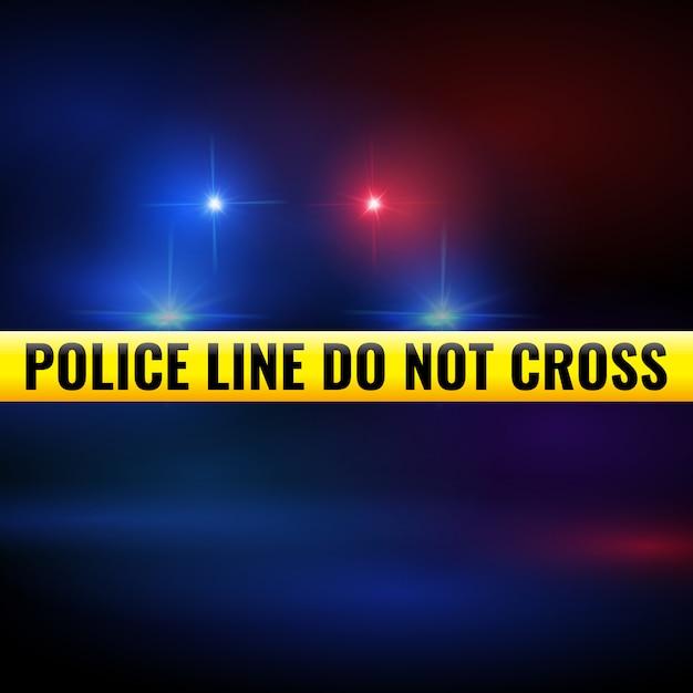 Polizeilichter und band Premium Vektoren