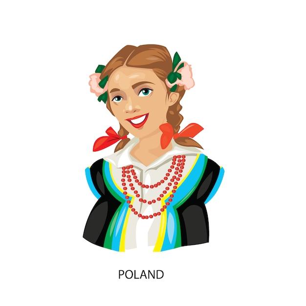 Polnische Frau Illustration Download Der Kostenlosen Vektor