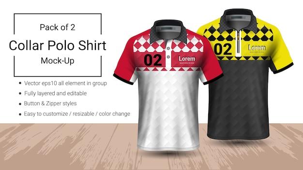 Polo-Kragen-T-Shirt-Vorlage | Download der Premium Vektor