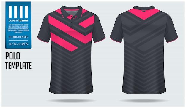 Polo-shirt-template-design. Premium Vektoren