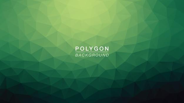 Polygon grüner hulk Premium Vektoren