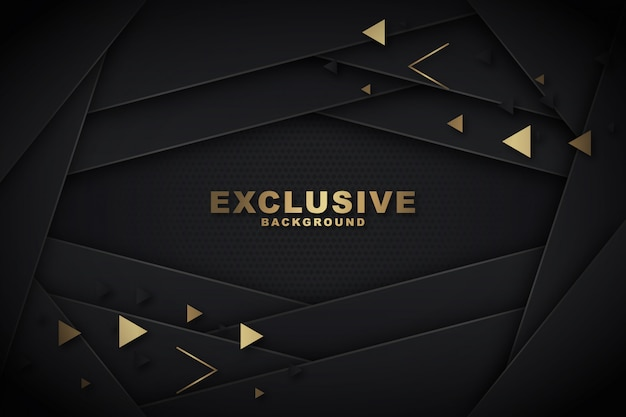 Polygonal dunkel & golden Premium Vektoren