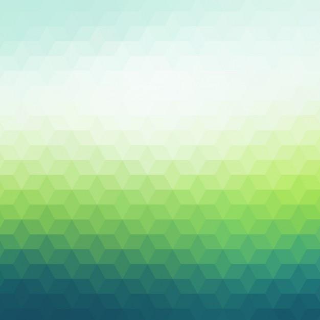 Polygonal hintergrund in dunklen und hellen grüntönen Kostenlosen Vektoren