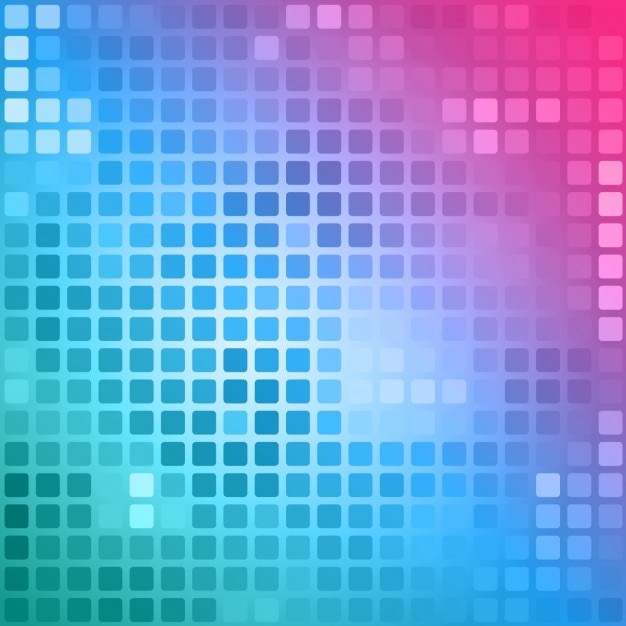 Polygonal hintergrund in rosa und blauen tönen mit quadraten Kostenlosen Vektoren