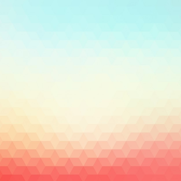 Polygonal hintergrund in rot- und blautönen Kostenlosen Vektoren