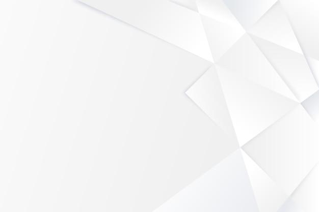 Polygonale formen kopieren den weißen hintergrund des raums Premium Vektoren