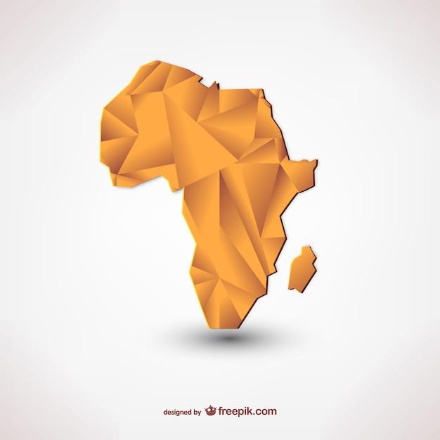 Polygonale silhouette von afrika Kostenlosen Vektoren