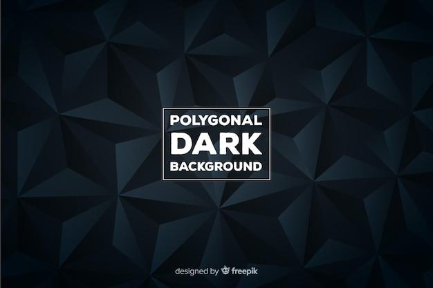 Polygonaler dunkler hintergrund Kostenlosen Vektoren