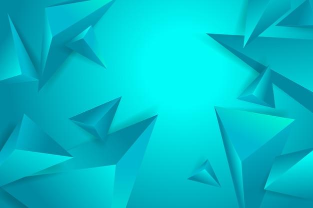 Polygonaler hintergrund 3d mit blauen monochomtönen Kostenlosen Vektoren
