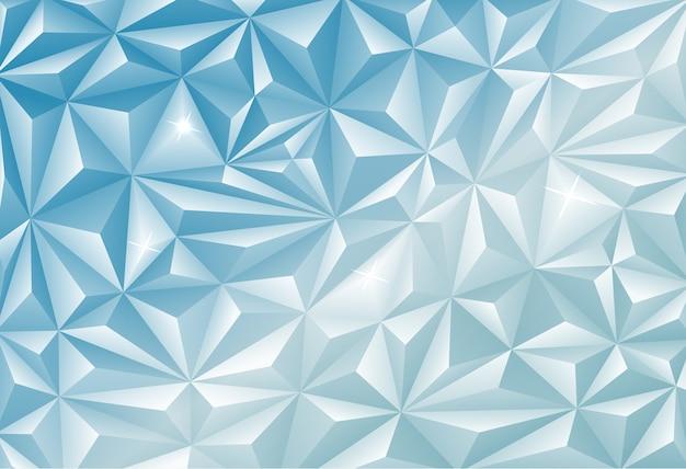 Polygonaler hintergrund der blauen diamantenmine Premium Vektoren