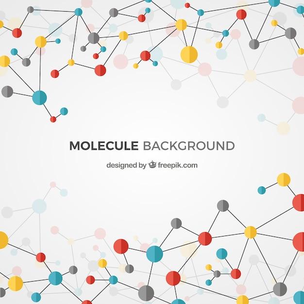Polygonaler hintergrund farbiger moleküle Kostenlosen Vektoren