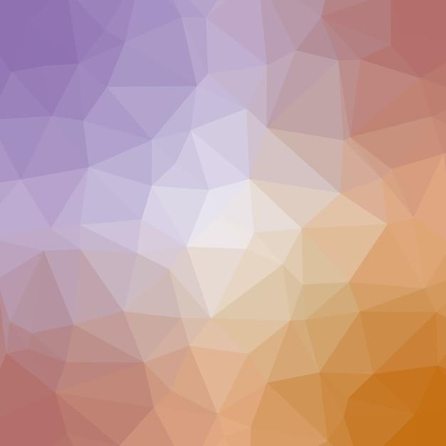 Polygonaler hintergrund in den sahnigen strand-tönen Premium Vektoren