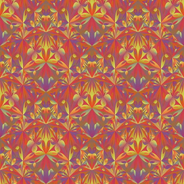 Polygonales abstraktes blumenmuster Premium Vektoren