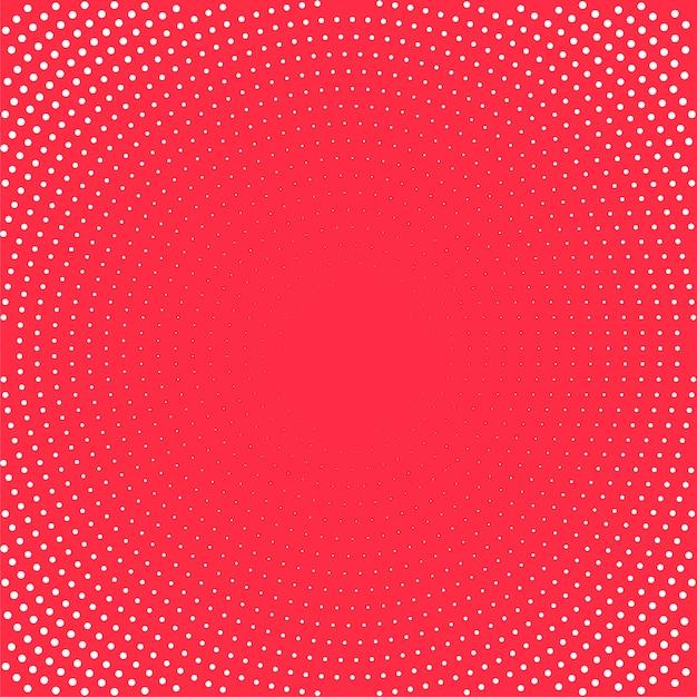 Pop-art-hintergrund. weiße punkte auf rotem hintergrund. halbton-hintergrund illustration. Premium Vektoren