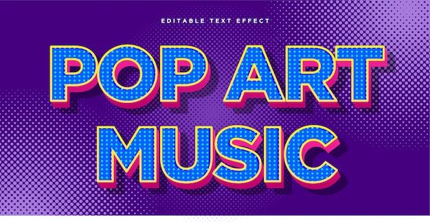 Pop-art-textstil-effekt Premium Vektoren