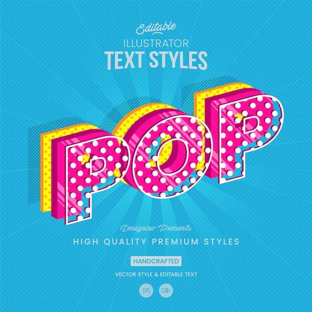Pop-art-textstil Premium Vektoren