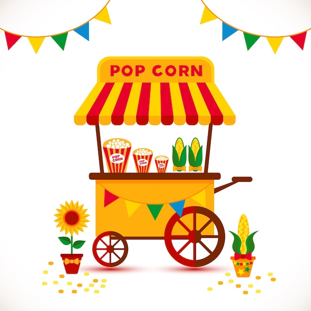 Pop-mais-shop Kostenlosen Vektoren