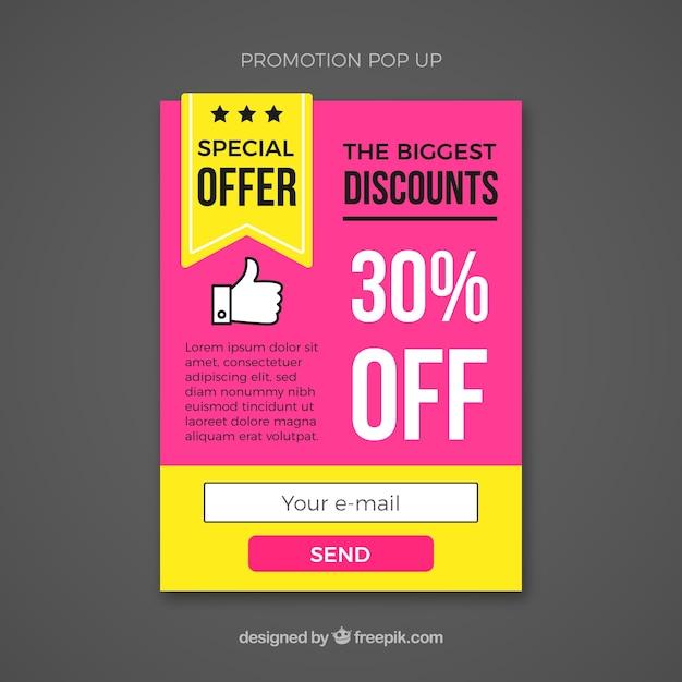 Pop-up-Vorlage für Werbung   Download der kostenlosen Vektor