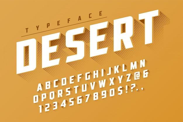 Popart design des retro- anzeigen-gusses der wüste Premium Vektoren