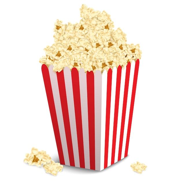 Popcorn-box-design Kostenlosen Vektoren