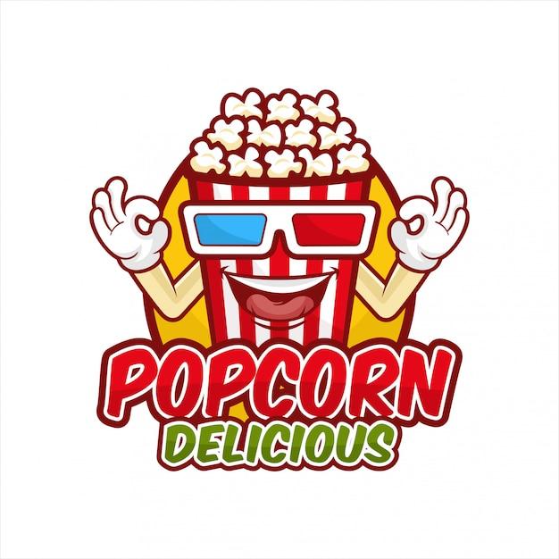 Popcorn köstliche designillustration Premium Vektoren
