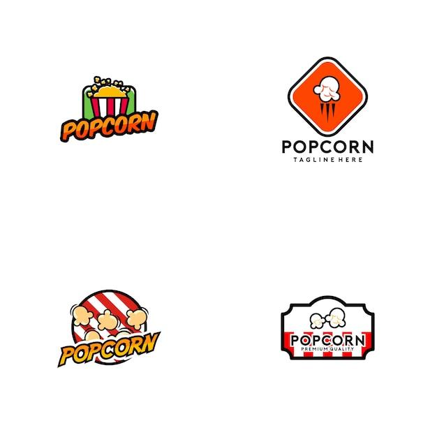 Popcorn-logo Premium Vektoren