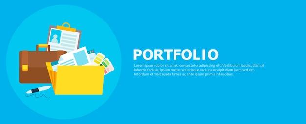 Portfolio-banner Kostenlosen Vektoren
