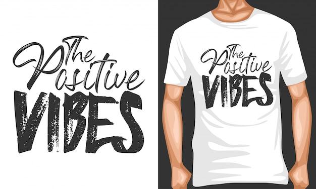 Positive stimmung, die typografiezitate beschriftet Premium Vektoren