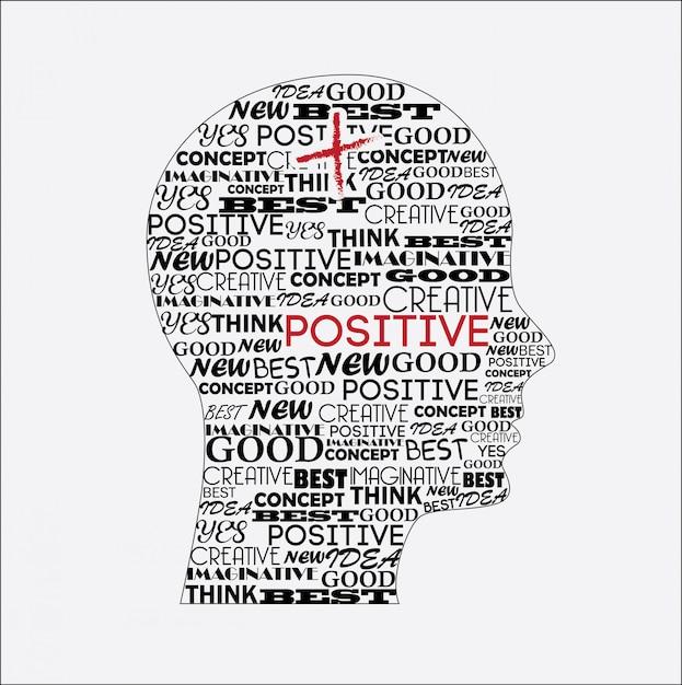 Positiver geist Premium Vektoren