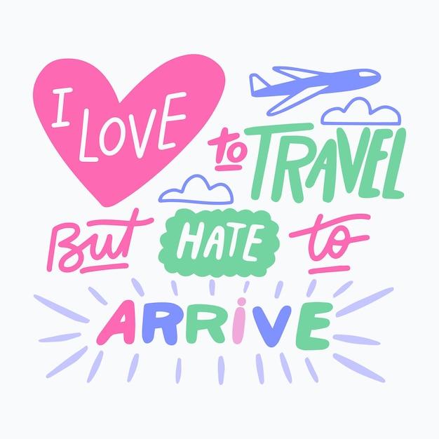 Positives zitat mit reisethema Kostenlosen Vektoren