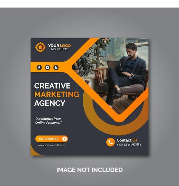 Post-design für corporate- und digital-business-marketing oder banner für soziale medien Premium Vektoren