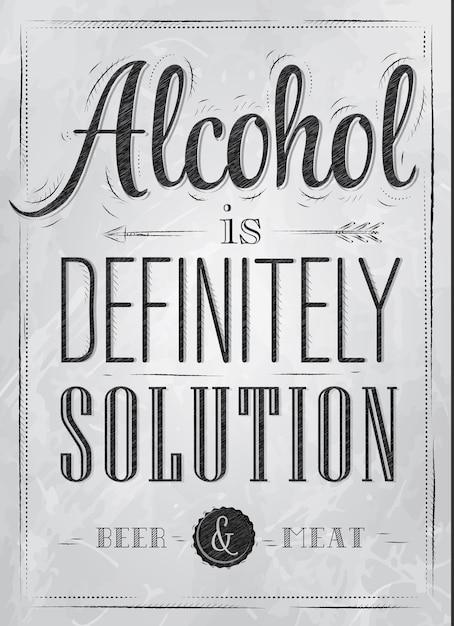 Poster alkohol auf jeden fall Premium Vektoren