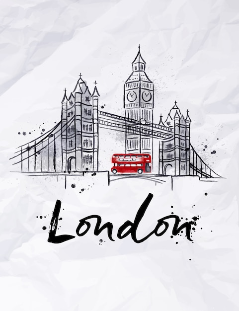 Poster london Premium Vektoren