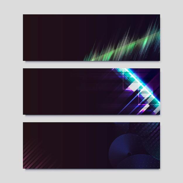 Poster mit neonlichteffekt Kostenlosen Vektoren