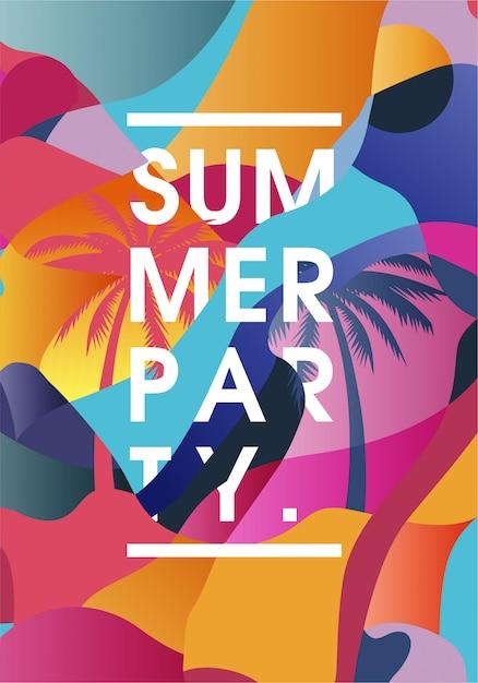 Poster-sommerfest Premium Vektoren