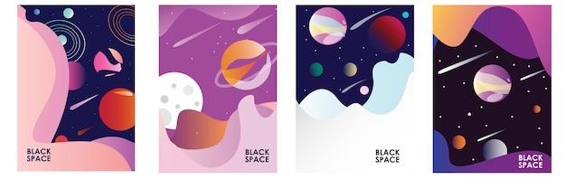 Poster space dark Premium Vektoren