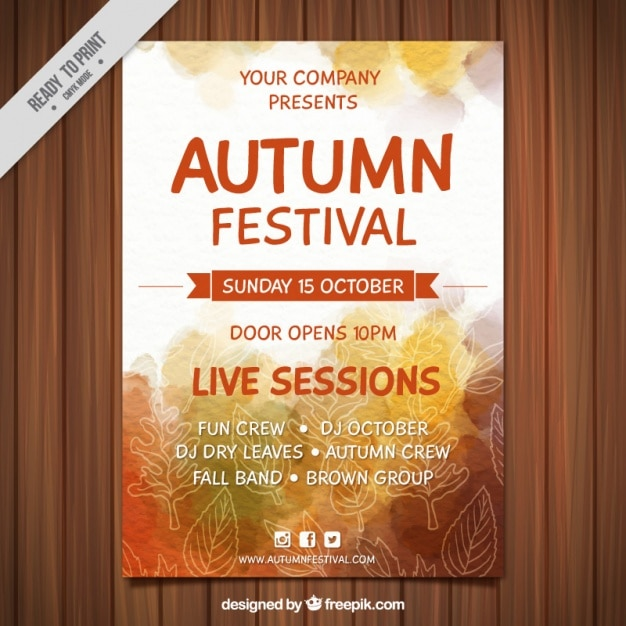 Poster von mid-autumn festival mit aquarellen Kostenlosen Vektoren