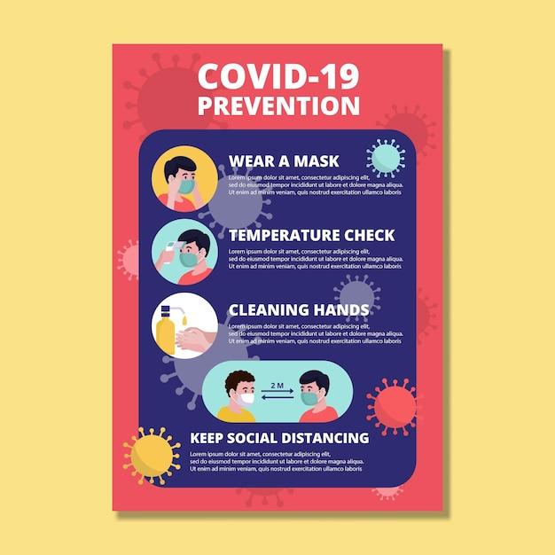 Poster zur coronavirus-prävention Kostenlosen Vektoren