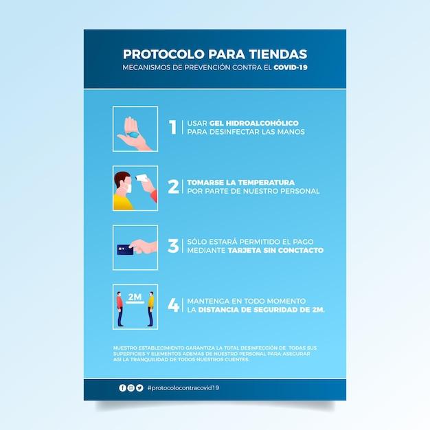 Posterstil im coronavirus-präventionsstil Kostenlosen Vektoren