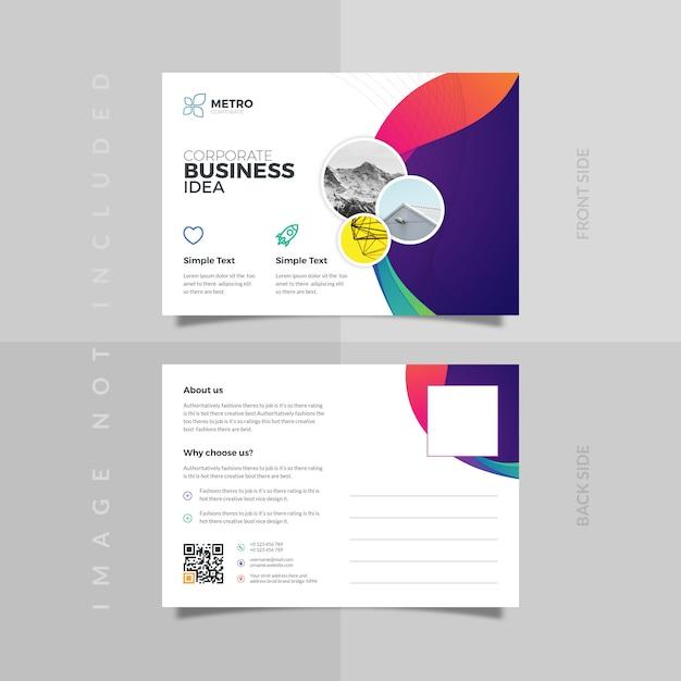 Postkartenvorlage Premium Vektoren