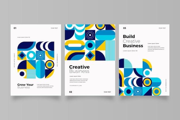 Postmoderne business-cover-sammlung Kostenlosen Vektoren