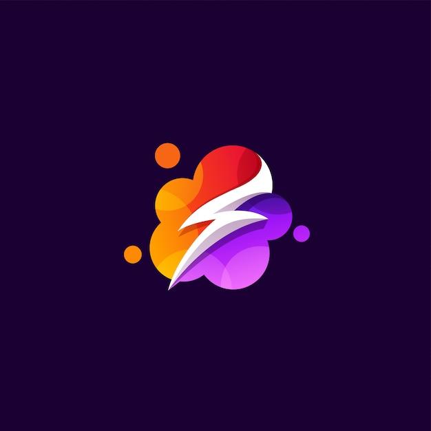 Power logo design illustration Premium Vektoren
