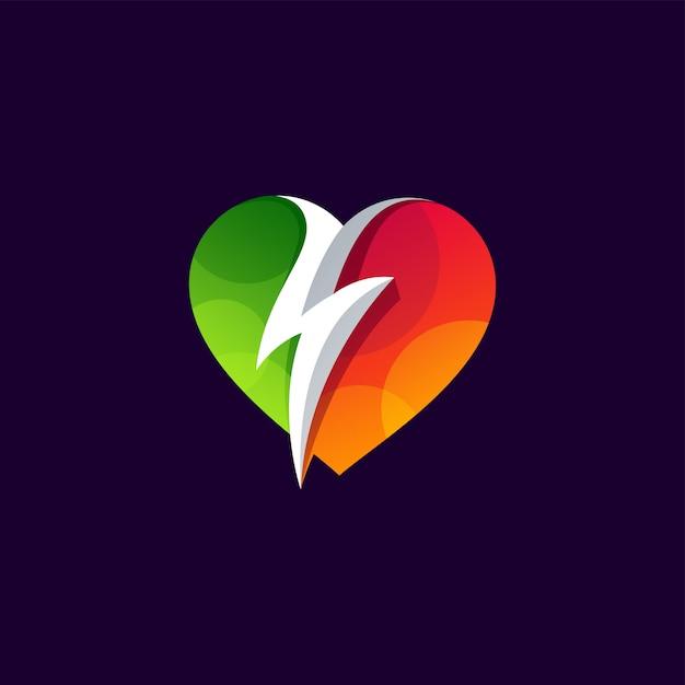 Power of love logo design weinflaschendesign. illustration Premium Vektoren