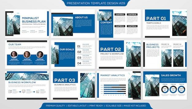 Powerpoint-präsentationsvorlage Premium Vektoren